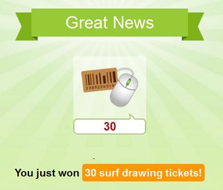 Odměna Sur Drawing Tickets